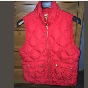 Woolrich Quilted Puffer Down Vest RED S EUC